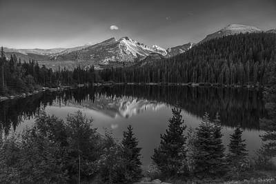 Photograph - Bear Lake In Black And White by Gary Lengyel