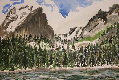 Painting - Bear Lake In Rocky Mountain National Park by Polly Castor