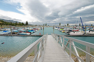 Photograph - Bear Lake Marina by Margaret Pitcher