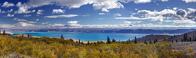 Bear Lake Panoramic Art Print by Leland D Howard