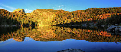 Bear Lake Panoramic Reflections Print by Greg Norrell