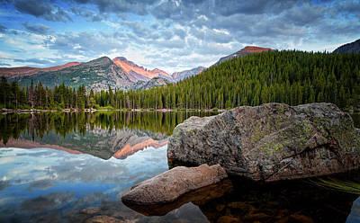 Bear Lake Rocky Mountain National Park 3172  Art Print by Ken Brodeur