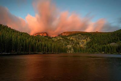 Photograph - Bear Lake's Hallett Peak #1 by John Gilbert