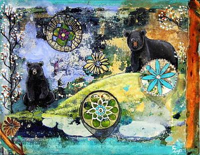 Wall Art - Painting - Bear Mandala by Carol Iyer