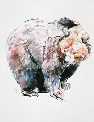 Brown Bear Painting - Bear by Mark Adlington