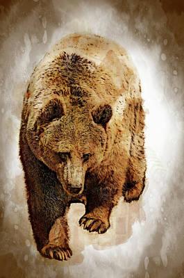 Financial Digital Art - Bear Market by Daniel Hagerman