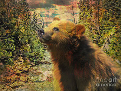 Digital Art - Bear Medicine 2015 by Kathryn Strick
