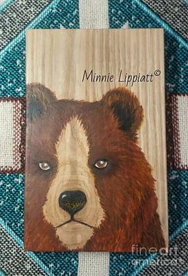 Painting - Bear  by Minnie Lippiatt