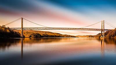 Photograph - Bear Mountain Bridge After Sunset by Mihai Andritoiu