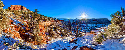 Manipulation Photograph - Bear Mountain Winter 1 by ABeautifulSky Photography