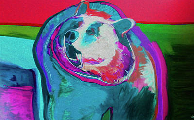 Mixed Media - Bear by Supreme Inc