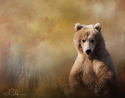 Digital Art - Bear Painting In Grass by Gloria Anderson