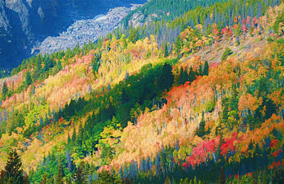 Painting - Bear Peak In Autumn by Dan Sproul