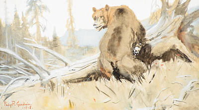 Philip Goodwin Painting - Bear  by Celestial Images