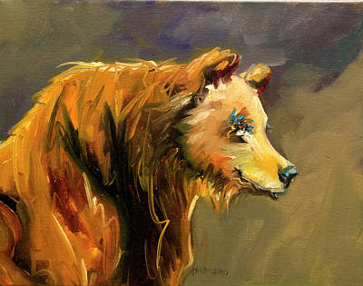 Painting - Bear Pout by Diane Whitehead