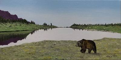 Painting - Bear Reflecting by Kevin Daly