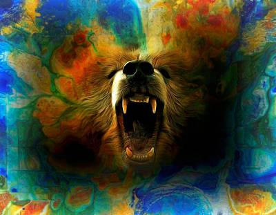 Photograph - Bear Roar Abstract by Lilia D