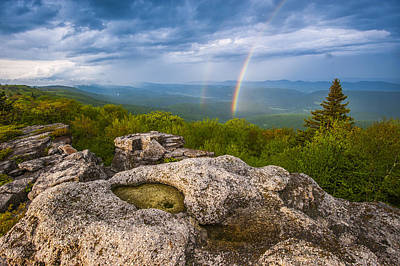 Dolly Photograph - Bear Rocks Rainbow by Joseph Rossbach