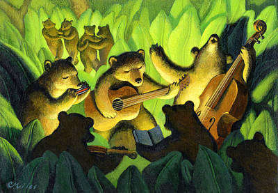 Wall Art - Painting - Bear Song by Chris Miles