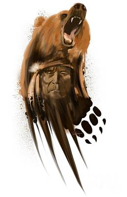 Painting - Bear Spirit  by Sassan Filsoof