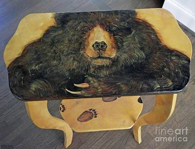 Mixed Media - Bear Table by Lizi Beard-Ward
