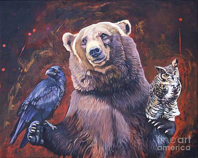 Bear The Arbitrator Print by J W Baker