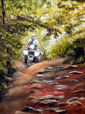 Painting - Bear Wallow Rider by Phil Burton