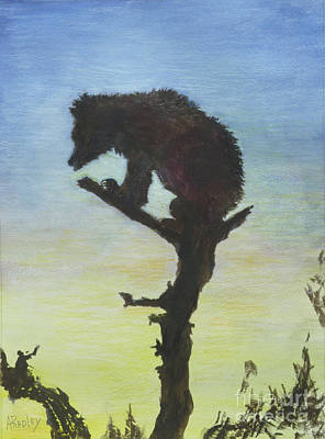 Painting - Bear With A View by Ann Radley