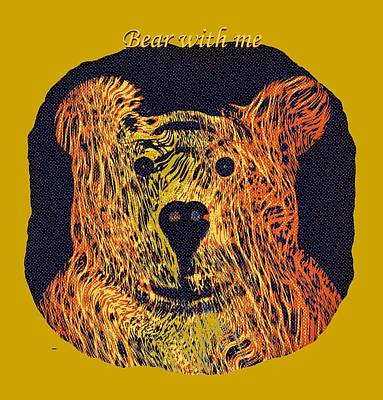 Bear With Me Art Print
