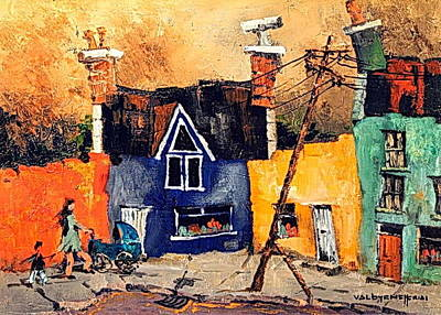 Painting - Beara Cork  Ardgroom Colours by Val Byrne