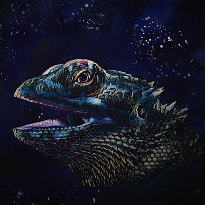 Painting - Bearded Dragon by Modern Art