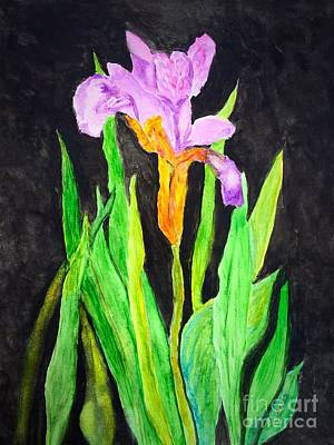 Painting - Bearded Iris by Anne Sands