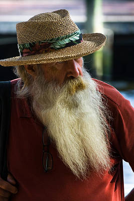 Photograph - Bearded Man by Ed Gleichman