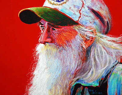 Old Man With Beard Painting - Bearded Man With Cap by Pat Joiner