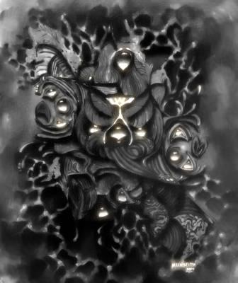 Bearded Screech Owl Art Print
