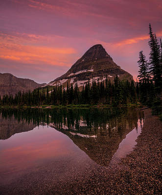 Photograph - Bearhat Reflection // Hidden Lake, Glacier National Park  by Nicholas Parker