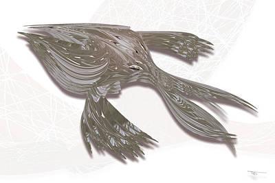 Digital Art - Bearing Shark by Warren Lynn
