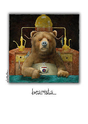 Coffee Painting - Bearista... by Will Bullas