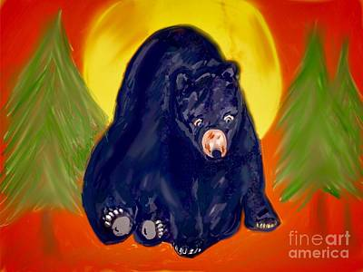 Digital Art - Bearly Alone  by Susan Garren