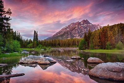 Refelctions Photograph - Bearpaw Lake  by Greg Wyatt