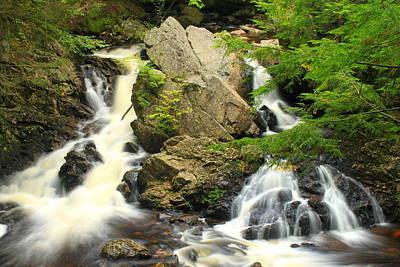 Quabbin Reservoir Photograph - Bear's Den Waterfall New Salem Ma by John Burk