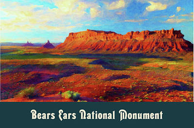 Digital Art - Bears Ears National Monument by Chuck Mountain