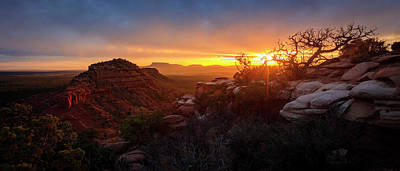 Photograph - Bears Ears Sunset Panorama by Johnny Adolphson