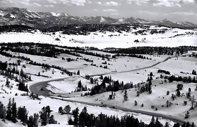 Photograph - Beartooth Highway Opening Weekend Black And White by Dan Sproul