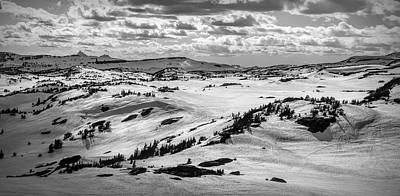 Photograph - Beartooth Highway Overlook In Black And White by Dan Sproul