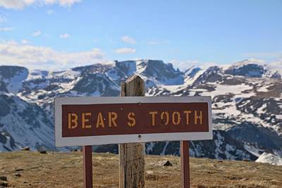 Photograph - Beartooth Highway Sign by Dan Sproul