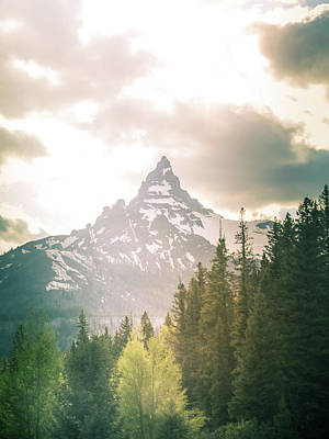 Photograph - Beartooth Mountain Peak In Morning Light by Dan Sproul