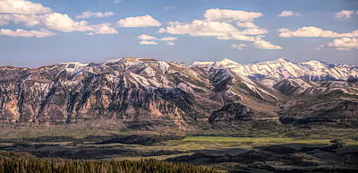 Mixed Media - Beartooth Mountain Range Panorama by Dan Sproul