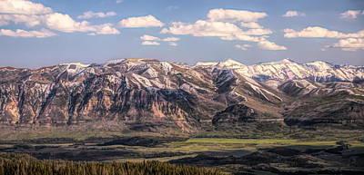 Yellowstone Mixed Media - Beartooth Mountain Range Panorama by Dan Sproul