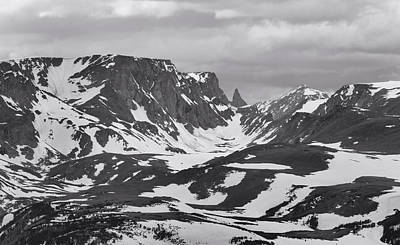 Photograph - Beartooth Mountains Black And White by Dan Sproul
